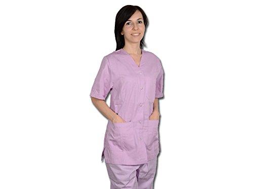 Mástil de enfermera con broches para mujer, talla S, lavanda, para enfermeras, terapeutas, belleza, cuidado de la salud, uñas, salón de spa