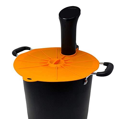 Cellar Made Sous Vide Deckel für Anova-Kochtopf in einem Suppentopf, sofortige Versiegelung, keine Frischhaltefolie mehr Orange