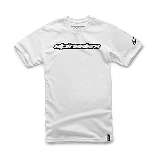 Alpinestars Herren T-shirt WORDMARK TEE, weiß, L