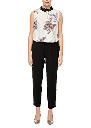 s.Oliver BLACK LABEL Damen Overall, 02A6white AOP, 40