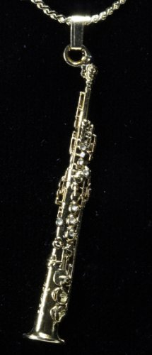 Harmony Jewelry Soprano Sax Necklace - Gold