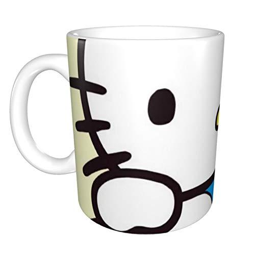 Doraemon - Taza grande de cerámica para café (330 ml), apta para lavavajillas y microondas, 1 unidad