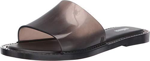 Melissa Women's Soul Slide Sandals Clear Black 7