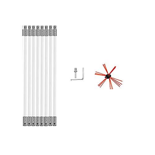 Voloki - Kit de herramientas de limpieza para chimenea, cepillo de barrido...