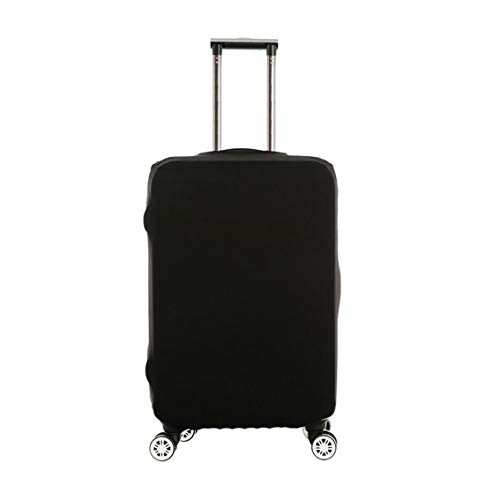 Luggage Protector Cover Elastic Travel Suitcase Protective Covers Dustproof Travel Bag Trolley Protector Cover Anti-Scratch Fits 20-28 Inch Luggage (Black, S)