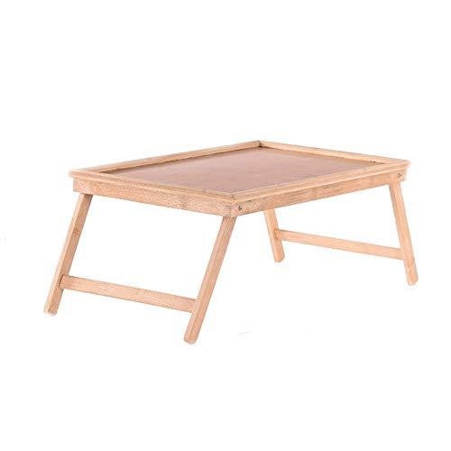 Mesa plegable Bandeja de desayuno plegable Desayuno lacado de bambú en la cama Bandeja de servicio Manijas Tableta de madera for cama Mesa plegable portátil multipropósito Hogar de los muebles de ofic