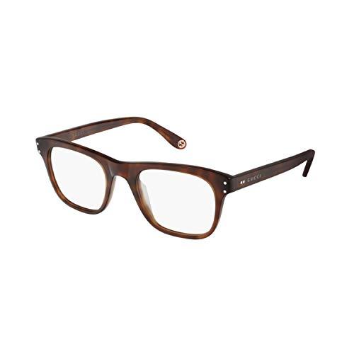Gucci Occhiale da Vista GG0476O 008 havana montatura plastica taglia 51 mm occhiale uomo