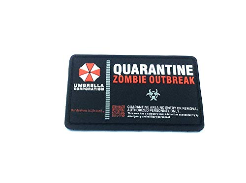 Umbrella Corporation Quarantine Zombie Outbreak Morale Patch PVC Airsoft Paintball Klett Emblem Abzeichen