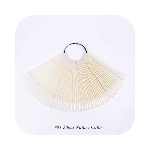 Nail Art Foil Kit False Nails Oval Natural Fan Shape Nail Art Display Nail Gel Color Card Practice Accessories Tools Acrylic Nail Tips CHA23-1-A23-01-,