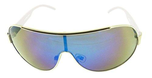 Sonnen-Brille weiss Herren Damen Oneshade Designer Sonnenbrillen verschiedene Modelle CE UV400 O40 (WEISS 2974) 1362