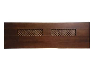 materiales: madera maciza de pino insigni medidas: 160 x 44 x 3 (ancho,alto,grueso) acabado: Nogal cabecero de una pieza con anclajes para la pared