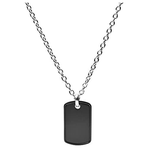 Fossil Collar de acero inoxidable para hombre-JOF00576998