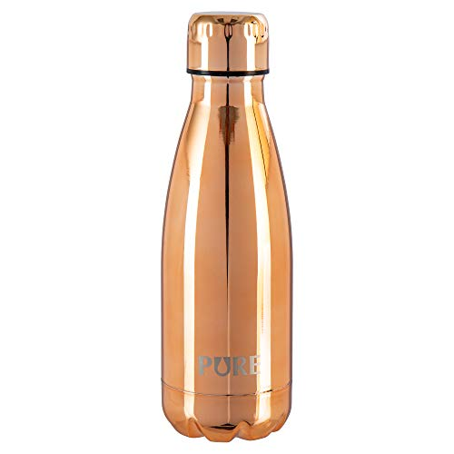 PURE 70527DC-RG CTG Mini Electroplate Fun Stainless Steel Water Bottle for Kids, 12 oz, Rose Gold