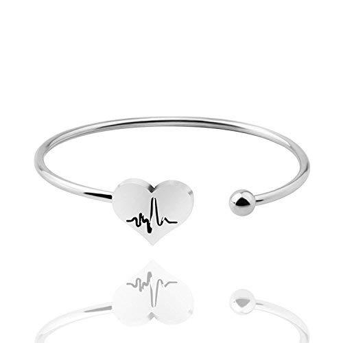 KUIYAI heart beat cuff (heart beat cuff silver EU)