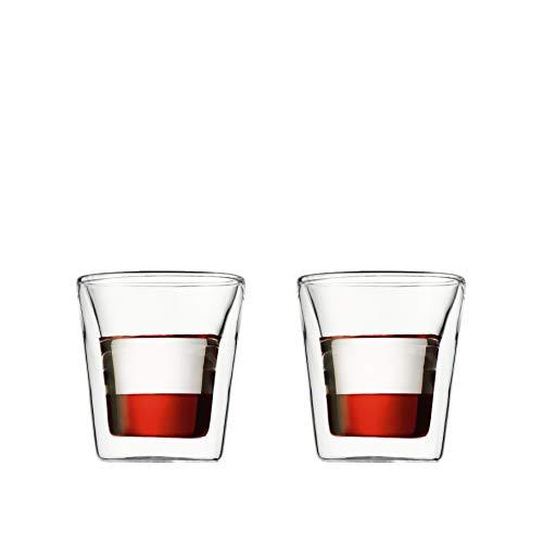Bodum CANTEEN Gläser-Set (Doppelwandig, 0,1 liters) transparent