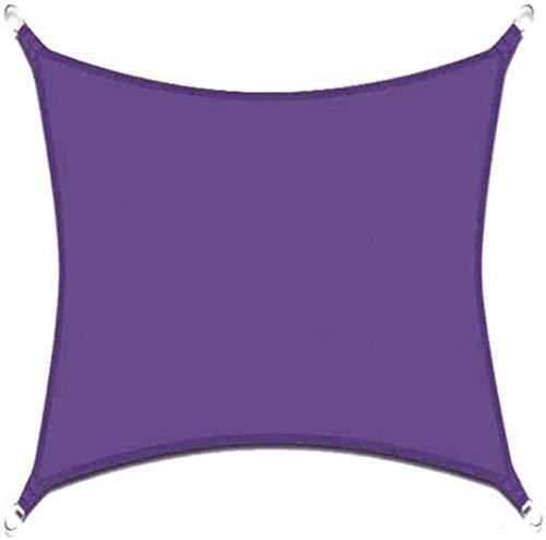 Skpshade Toldo Vela De Sombra 2m×1.8m Toldo Vela De Sombra Cuadrado con Cuerda Libre y Kit De Montaje Transpirable Jardín Camping Púrpura