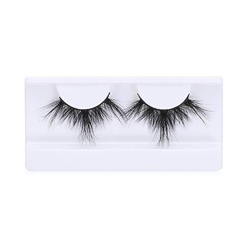 SKONHED 1 Pair Schönheit Sauerei Werkzeuge zum Einbinden Handarbeit Falsche Augenbrauen 100% 3D Mink Lash 25MM Lasche Dick lang(LON-49)