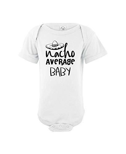 CrazWear Nacho Average Baby - Mono de algodón unisex para bebé, diseño de Taco martes - blanco - 12 meses