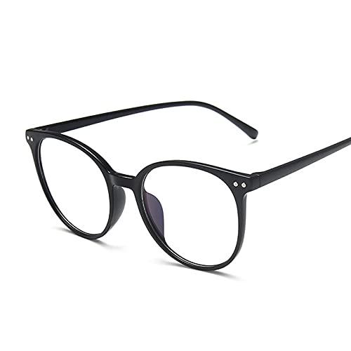 FEINENGSHUAInstyj Gafas Sol Mujer, Retro Redondo computadora Gafas Marco de Moda Oficina Gafas Juego Gafas Femenino Universidad (Frame Color : Sand Black)