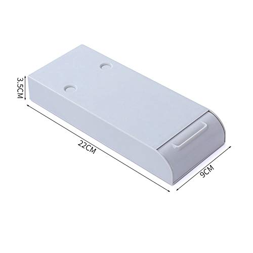 N/A Home - Caja de almacenamiento para mesa oculta debajo de la pasta de escritorio, organizador de escritorio y cajón divisor
