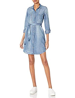 Jessica Simpson Women's Nyra Short Denim Shirt Dress, Clara, XSmall
