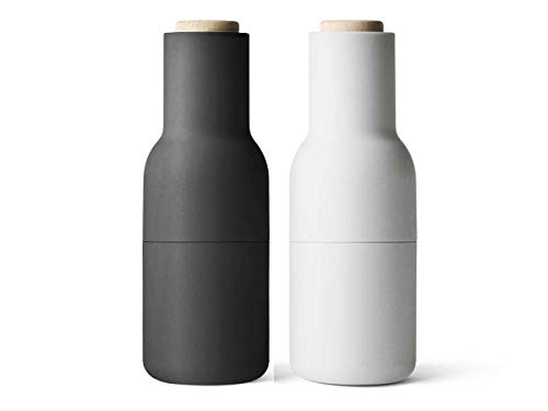 Menu Bottle Grinder ash/carbon, 2er-Pack, Pfeffermühle + Salzmühle
