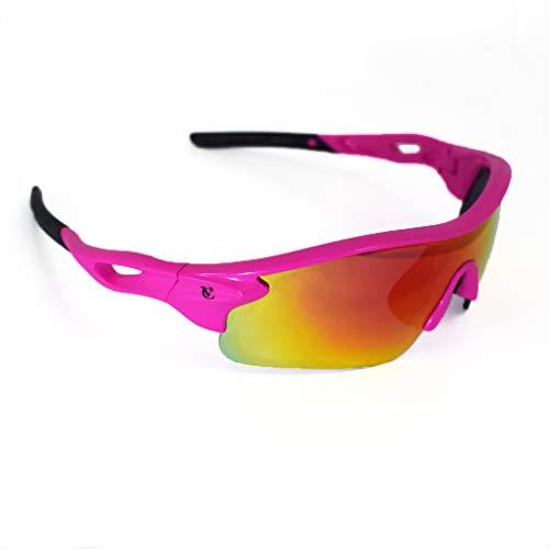VeloChampion Warp Ciclismo Conducción MTB Gafas de sol híbridas Correr Gafas deportivas Protección UV400 y 2 lentes de repuesto incluidos (blanco)