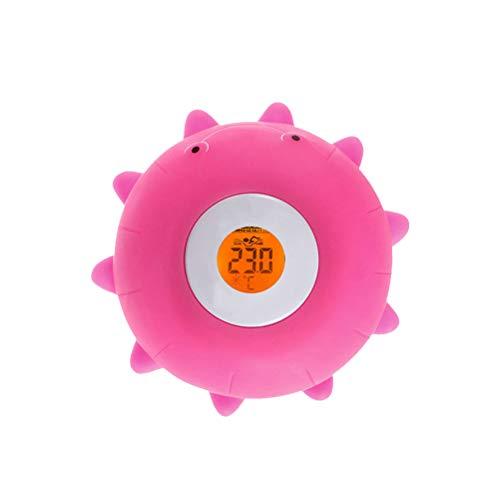 Hemoton Termómetro electrónico recargable para baño de bebé inteligente de agua adorable niños natación juguetes de baño (Rosy)