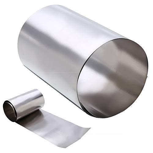 NO LOGO FMN-Tape, 1pc Ti Gr2 Il Titanio Lamine Sottili Ti Silver Plate Piazza Sheet Metal Foil mestiere con Resistenza alla corrosione 0.1x100x500mm