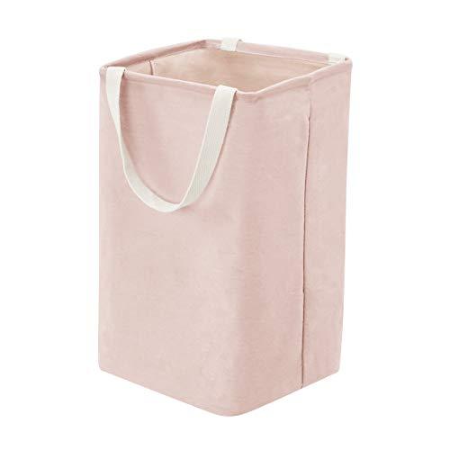 AmazonBasics – Canasto de tela, alto, cúbico, rosa apagado