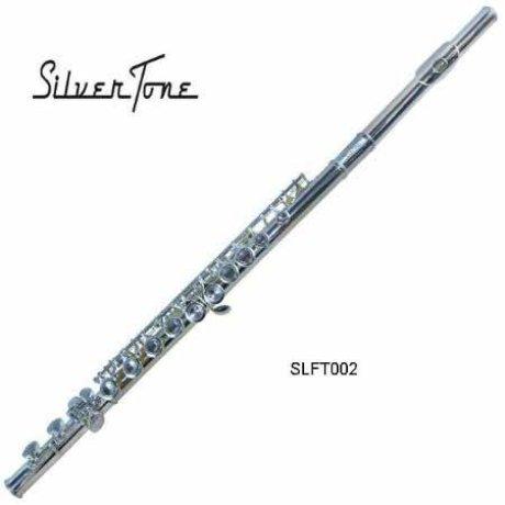 Flauta Transversal Niquel 16 Llaves Do / Llave Mi SILVERTONE SLFT002