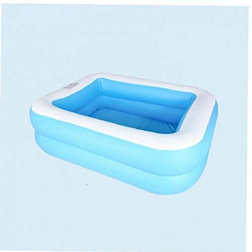 Piscina inflable para adultos de los niños al aire libre del patio trasero del verano, azul y blanco, 128 * 85 * 45cm