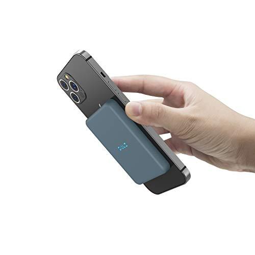 OISLE Magnetico Qi Wireless Power Bank 4225mAh Caricatore Portatile Compatibile per iPhone 12/12 mini/12pro/12pro max-blu