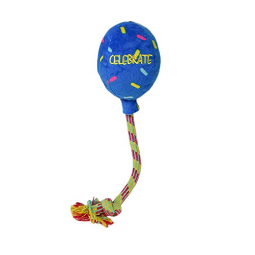 KONG KONG Gelegenheden Verjaardag Ballon Hond Speelgoed Blauw, Groot