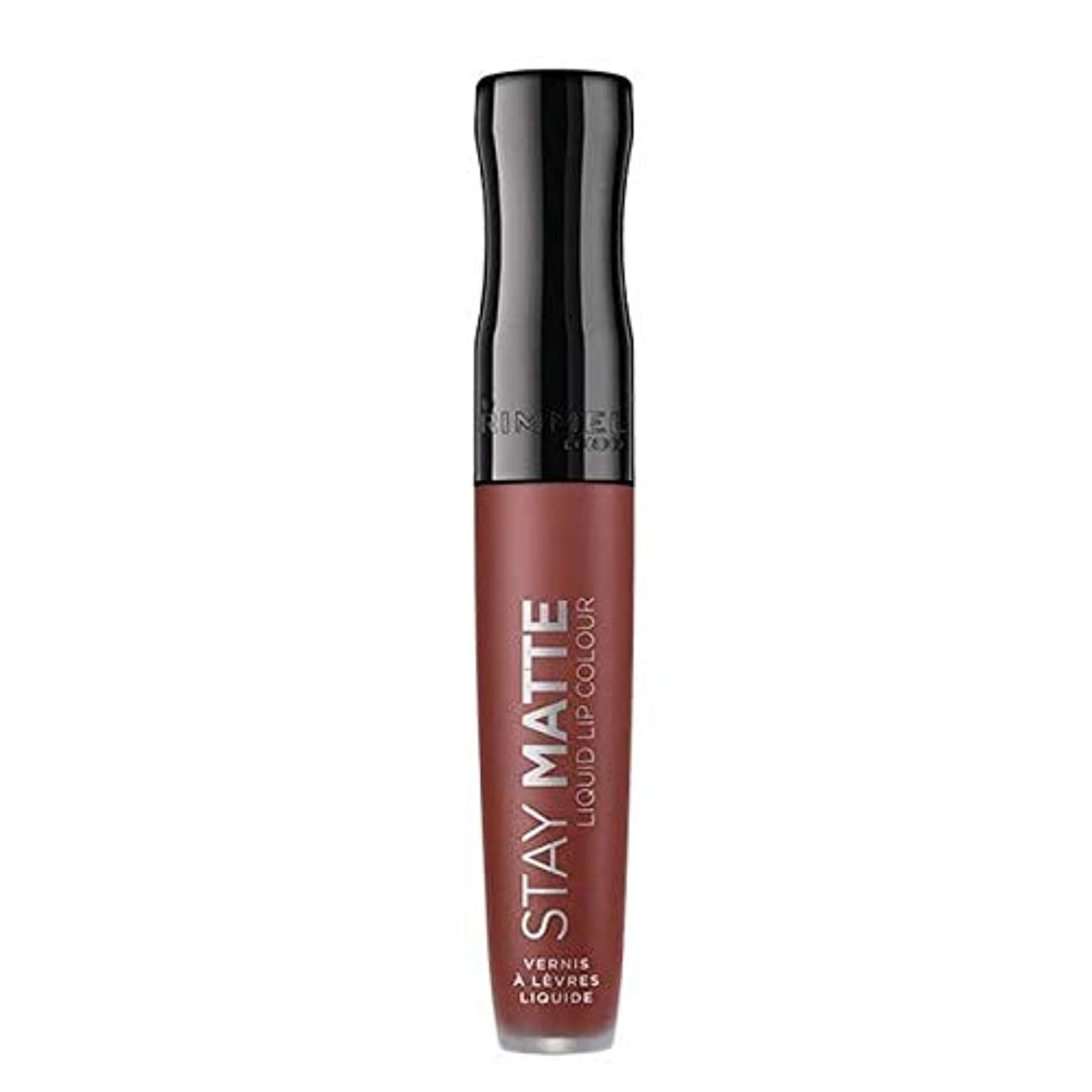 未使用オフ三十[Rimmel ] リンメルステイマット液体リップ口紅のトラブル - Rimmel Stay Matte Liquid Lip Lipstick Troublemaker [並行輸入品]