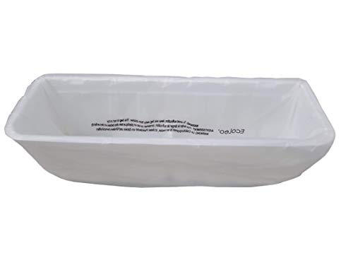 EcoLeo Liners, Compatible with LitterMaid / Nature's Miracle Waste Receptacles - Plastic-Free, Compostable, 60 Refill Bags with Handles, Use in Self-Cleaning Litter Box Waste Trays