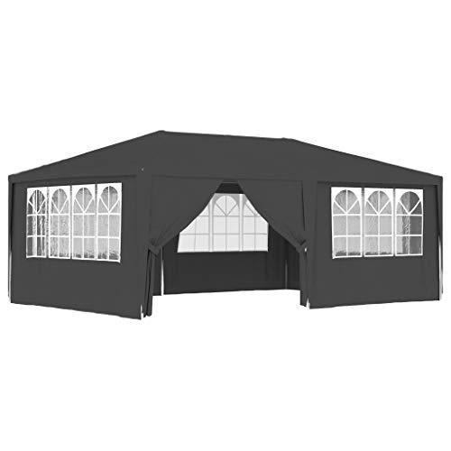 Goliraya Gazebo Professionale con Pareti Tendone per Feste 4x6 m/4x4 m 90 g/m² Impermeabile Protezione UV Tenda Giardino Sagre Eventi Mercati Esterno Disponibile in Tanti Colori Diversi