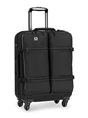 OGIO ALPHA Convoy 4-Wheel Spinner Carry-on Travel Bag (Black)