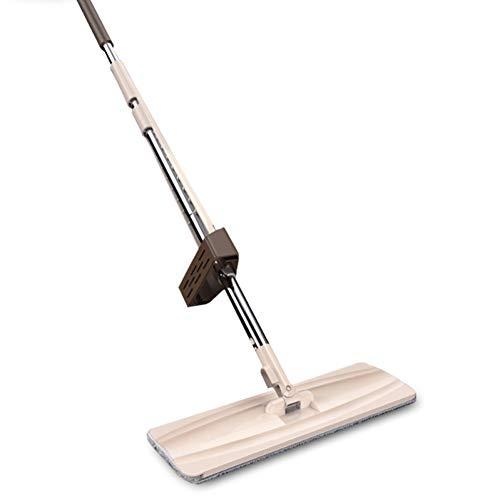 DIANZI mop handvrije vlakke mop om te vegen in huis, roterende tegel-mop nat en droog