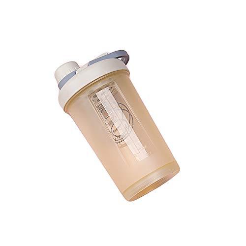 Fitness Shake Cup Woman, Taza Portátil De Leche De Nutrición Nutricional, Báscula De Mezcla con Tapa, Vaso De Plástico para Deportes Al Aire Libre, 17 Oz,oatyellow,500ml