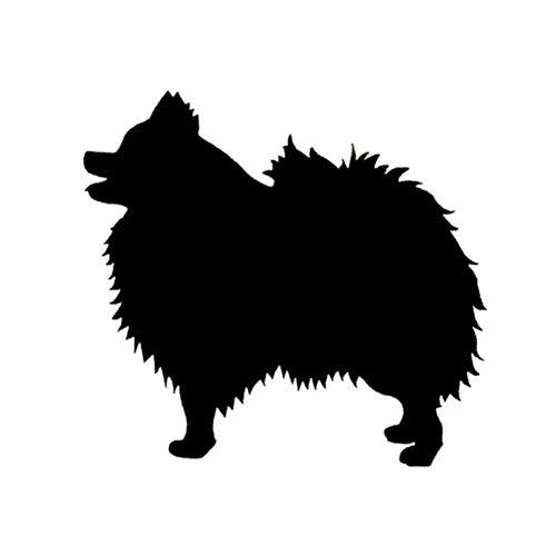 Empty 14 * 13 cm hond autosticker Spezies soorten dieren huisdieren honden motorfiets sticker en stickers zwart