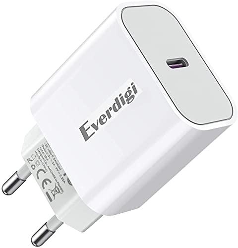 Everdigi Cargador USB C 20 W para Phone Cargador USB C para Phone 12 / 12pro / 12pro MAX/X XS XSMAX (Cargador Tipo C)