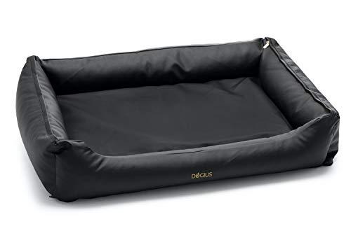 Dogius Bett mit Wechseldecke (Small, Schwarz)
