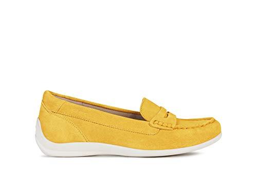 Geox D Yuki B - Suede Größe 38.5 EU Gelb (LT Yellow)