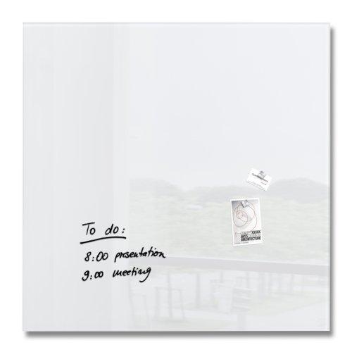 SIGEL GL201 Tableau magnétique en verre/Tableau blanc, 100 x 100 cm, blanc pur - Artverum