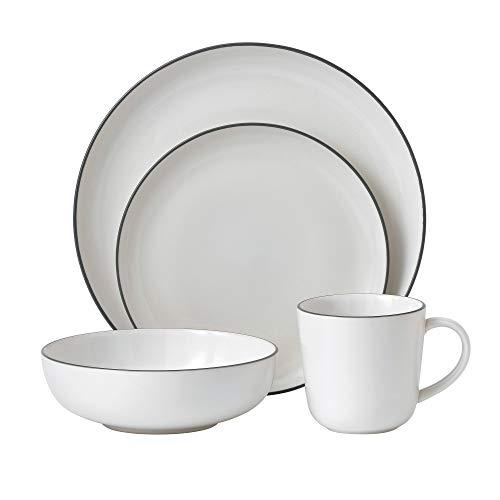 Gordon Ramsay 4-Piece Bread Street Dinnerware Set, White