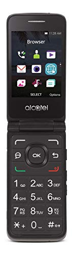Tracfone Carrier-Locked Alcatel MyFlip 4G Prepaid Flip Phone- Black - 4GB - Sim Card Included – CDMA (TFALA405DCP)