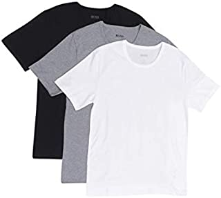 Hugo Boss Men's 3-Pack Round Neck Regular Fit Short Sleeve T-Shirts