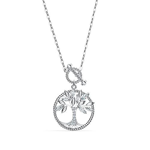 HUREWQ Collar Silver Necklace Tree of Life Silver Chain Pendant Necklace for Women Pendants Woman Necklace