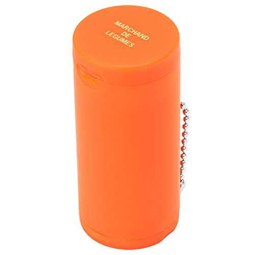 Dreams(ドリームズ) 携帯灰皿 ポケットアッシュトレイ ラバー ハニカム 6本収納 オレンジ MDL45093 直径3.5×高さ7.8cm